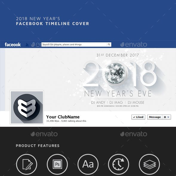 2018 New Year's Facebook Timeline