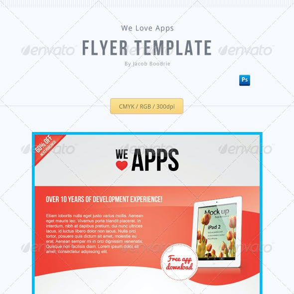 We Love Apps Flyer Template