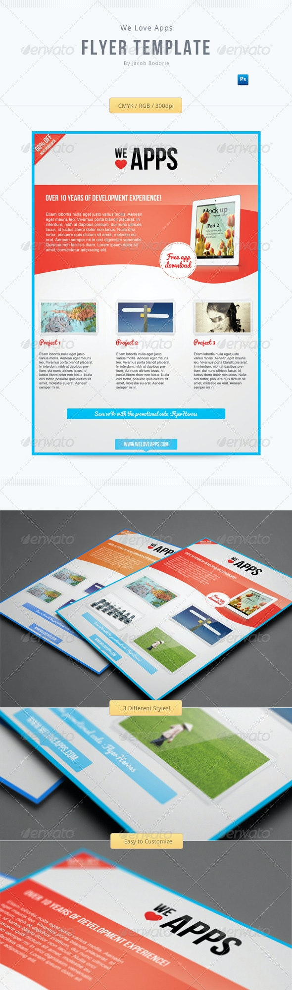 We Love Apps Flyer Template - Commerce Flyers