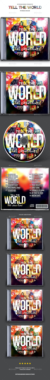 Tell the World CD Album Artwork - CD & DVD Artwork Print Templates