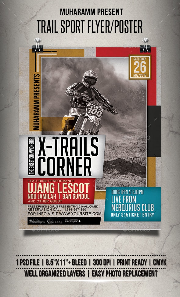 Trail Sport Flyer / Poster - Events Flyers
