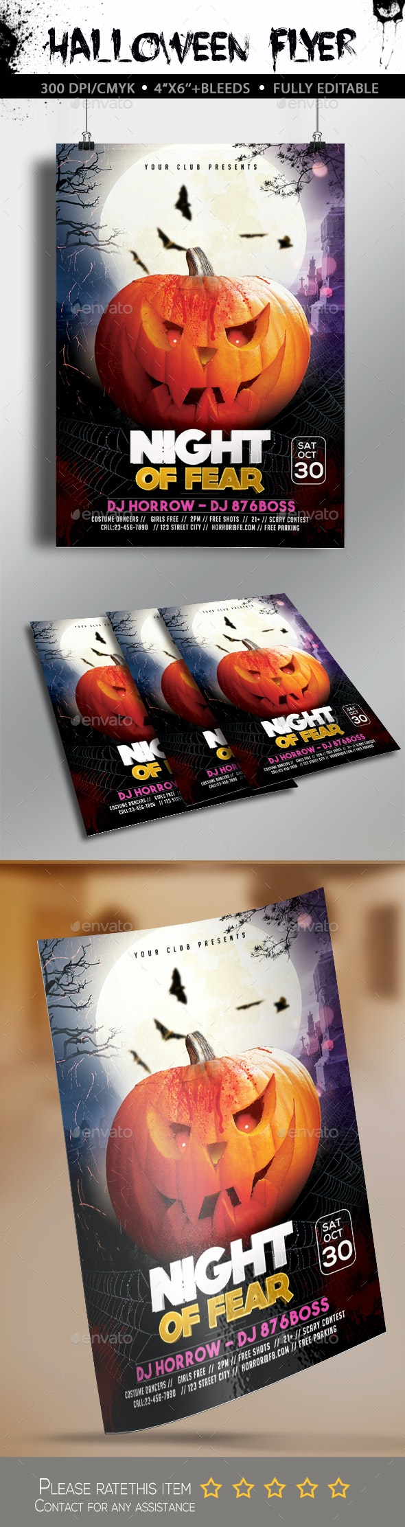 Halloween Fear Flyer - Clubs & Parties Events