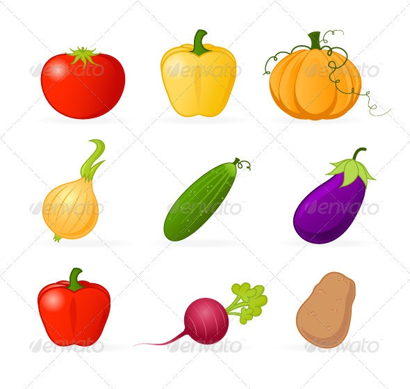 Vegetable Icons - Food Objects