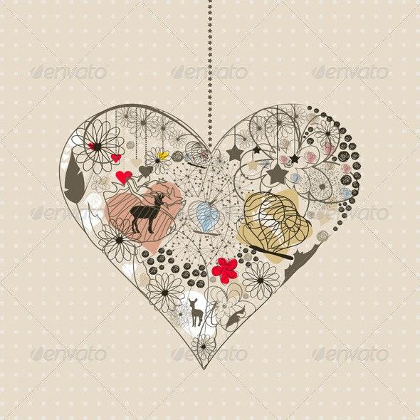 Natural Heart - Valentines Seasons/Holidays