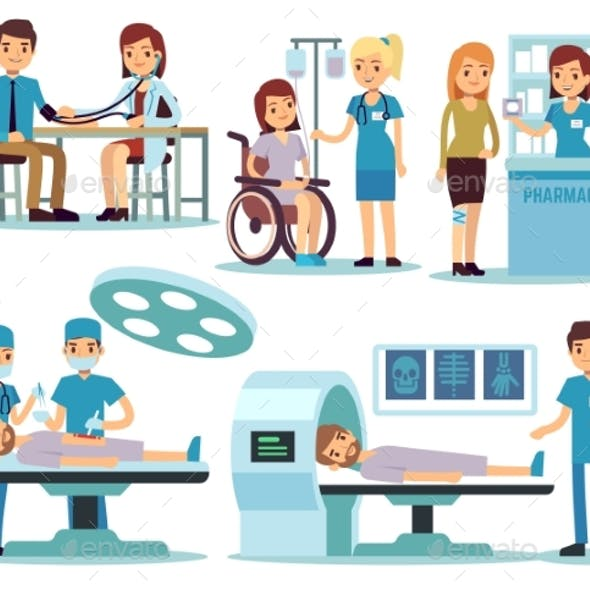 Medical Patient and Doctors in Medical Activity