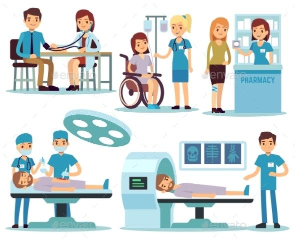 Medical Patient and Doctors in Medical Activity - Health/Medicine Conceptual
