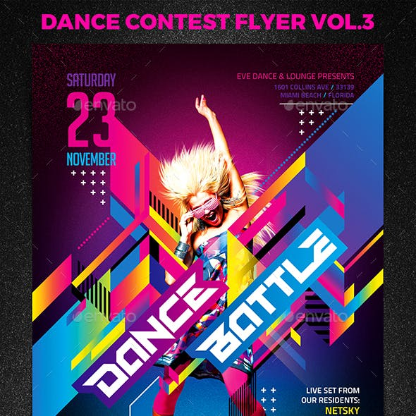 Dance Contest Flyer vol.3