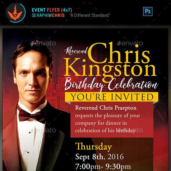 Pastor's Birthday Celebration Invitation Template