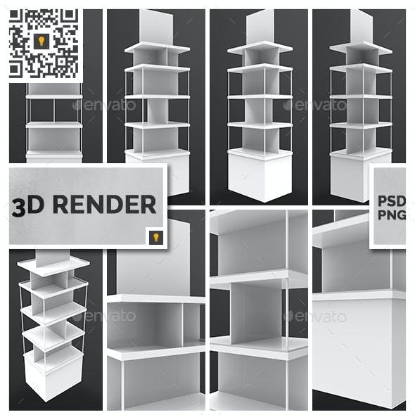 Store Display 3D Render