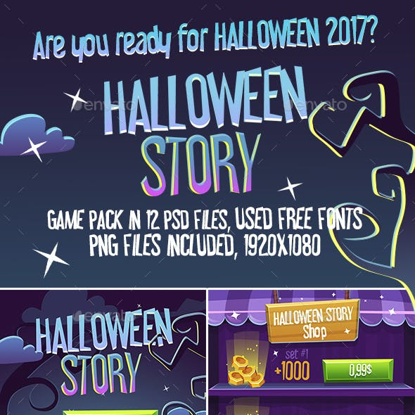 Halloween Story Full Game Pack with GUI and Seamless Map