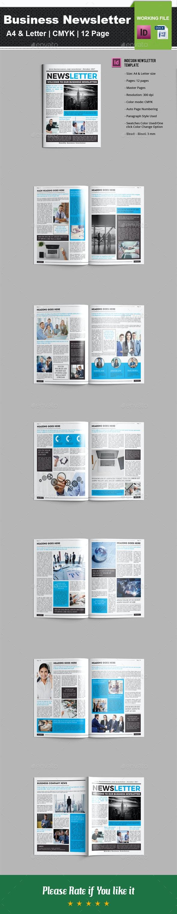 Business Newsletter V01 - Newsletters Print Templates