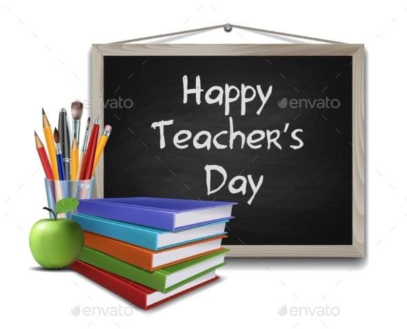 Teachers Day Vector Card - Miscellaneous Vectors