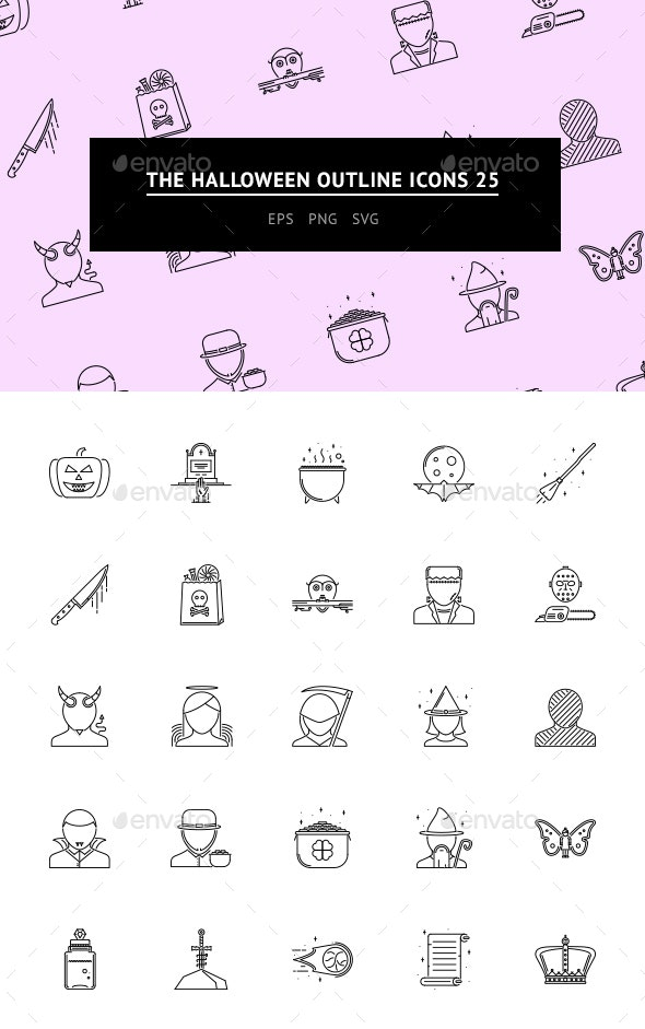 The Halloween Outline Icons 25 - Web Icons