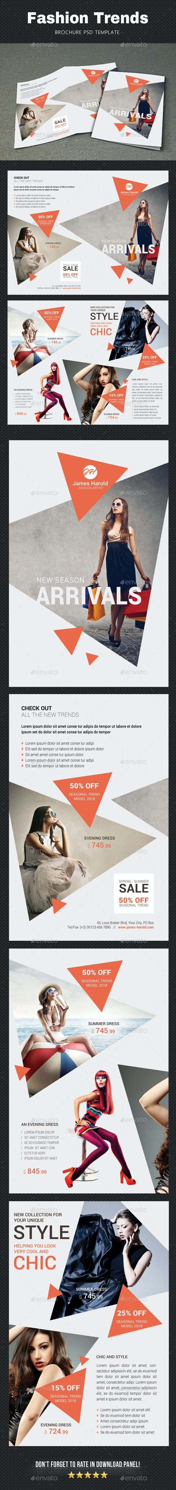 Fashion Brochure 3 - Brochures Print Templates