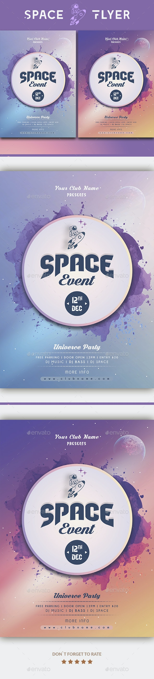 Space Event Flyer - Events Flyers