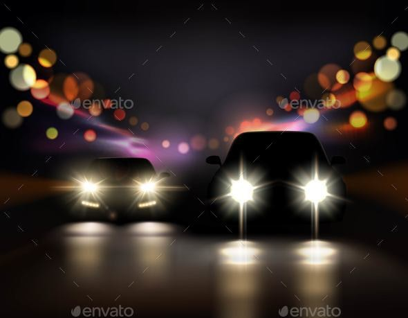 Night Ride Cars Composition - Miscellaneous Vectors