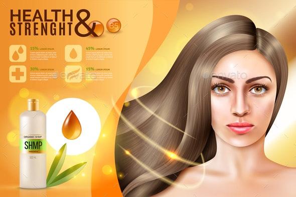 Hair Cosmetics Background - Miscellaneous Vectors