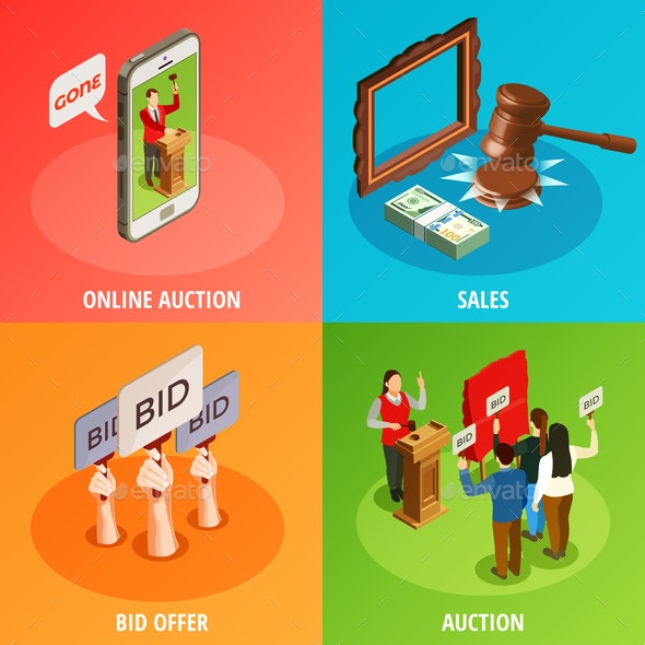 Bid Offers Design Concept - Miscellaneous Vectors