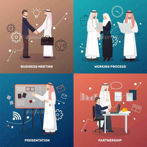 Islamic Partnership Design Concept - Business Conceptual