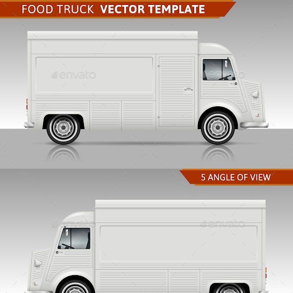 Retro Food Truck Vector Template