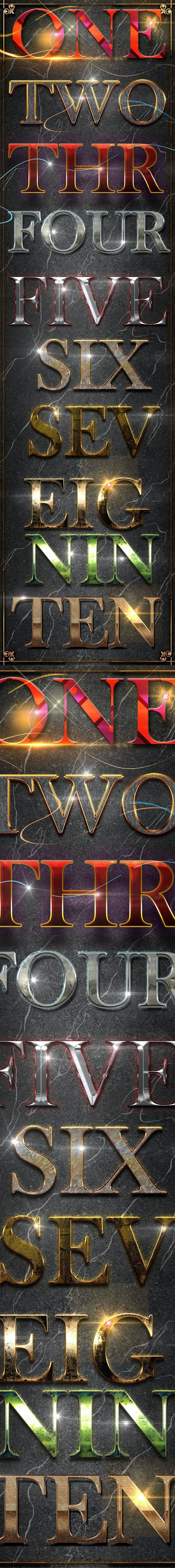 10 3D Text Styles D_35 - Text Effects Styles