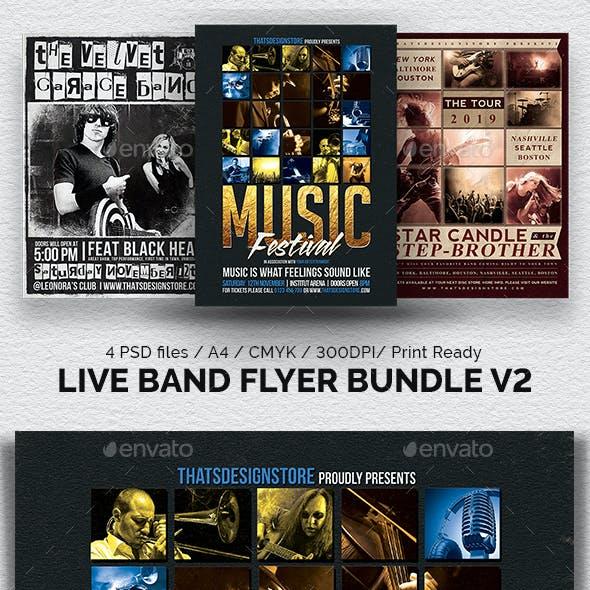 Live Band Flyer Bundle V2