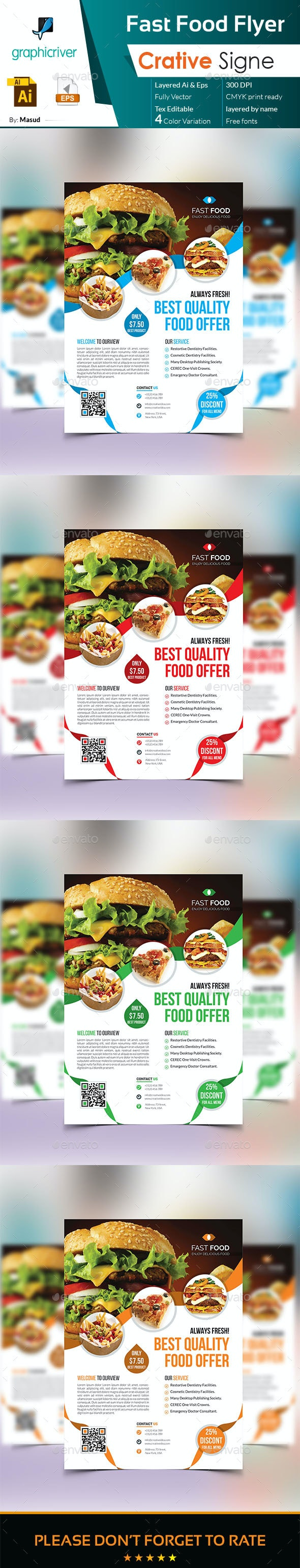 Fast Food Flyer - Restaurant Flyers