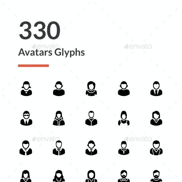 330 Avatar Glyph Icons