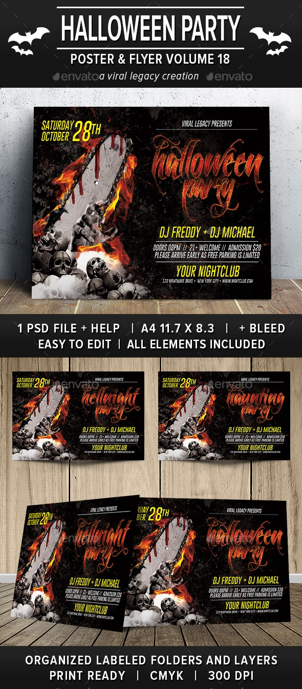 Halloween Party Poster / Flyer V18 - Events Flyers