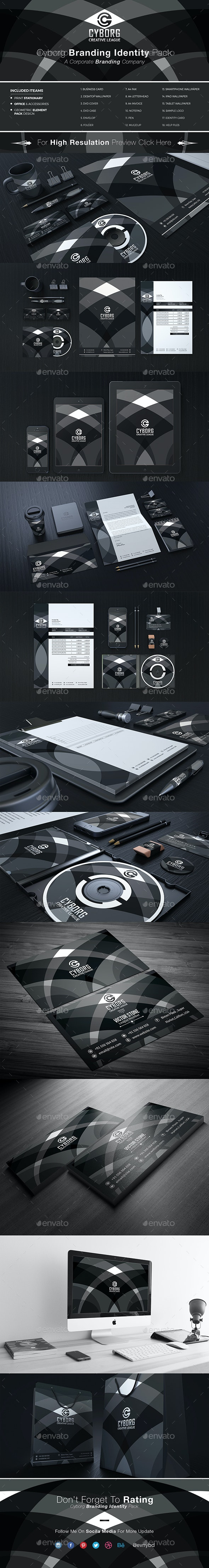 Cyborg Corporate Identity - Stationery Print Templates