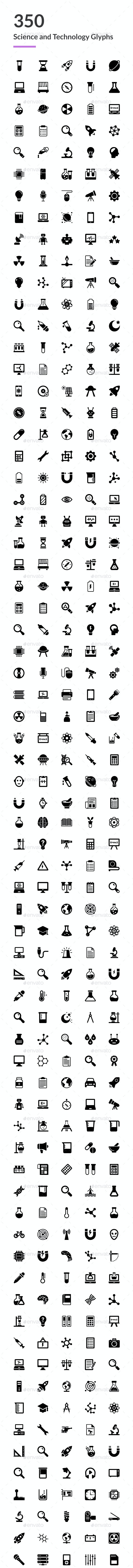 350 Science and Technology Icons - Icons