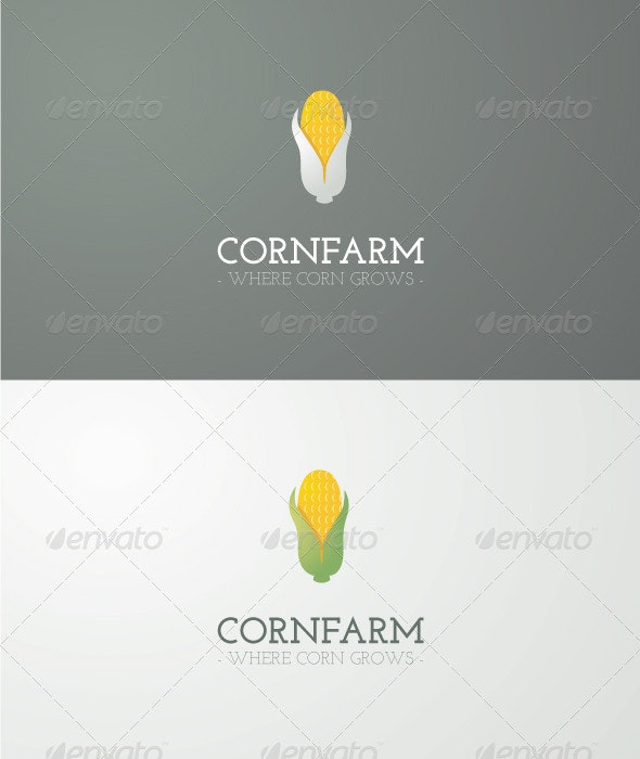 Corn Farm Logo - Nature Logo Templates