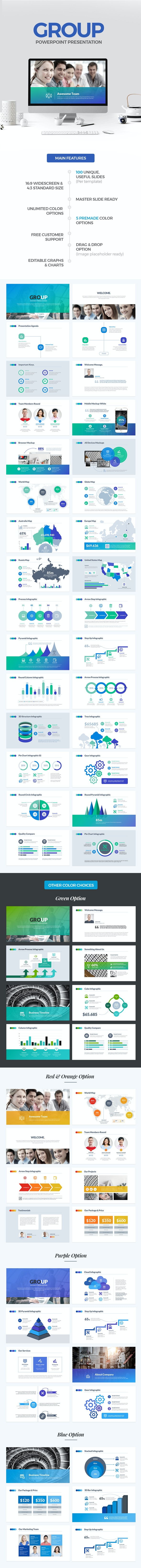Group PowerPoint Template - PowerPoint Templates Presentation Templates