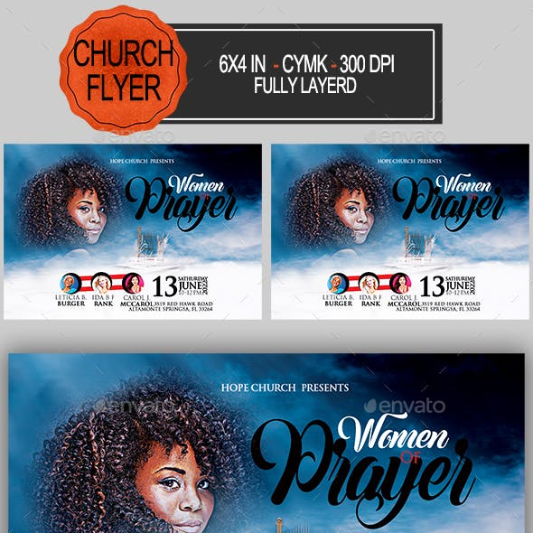 Women of Prayer Church Flyer