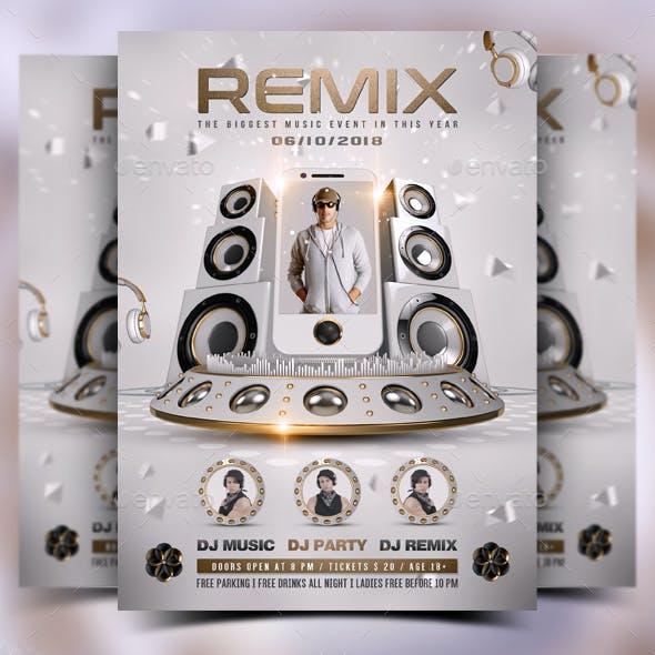 DJ Mix Battle Flyer Template