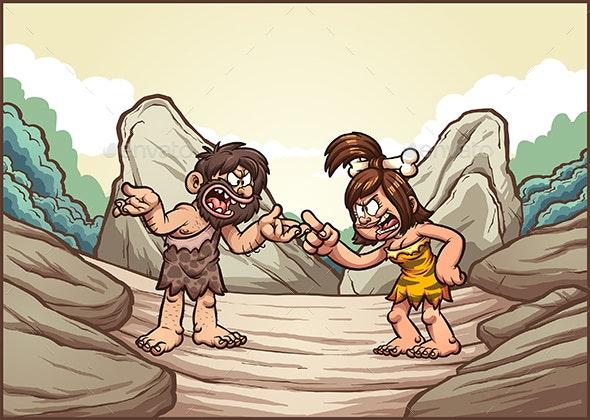 Caveman Couple - People Characters