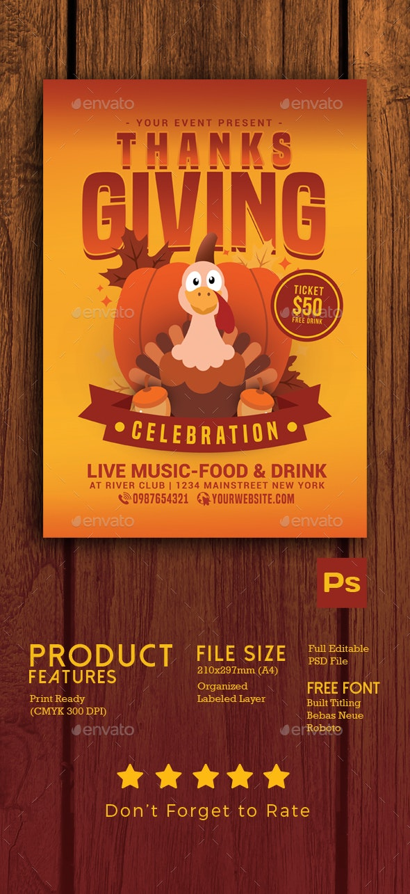 Thanksgiving Celebration Flyer - Events Flyers