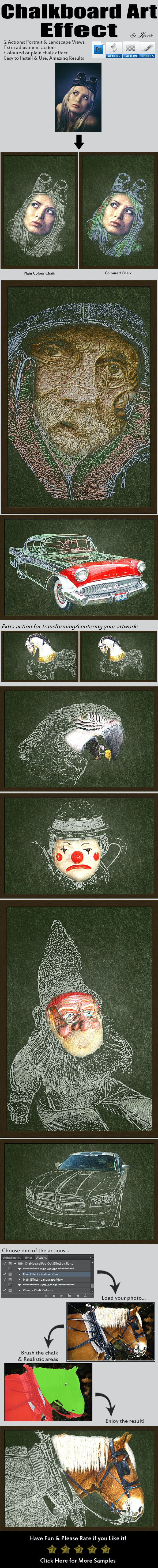 Chalkboard Art Effect - Photo Effects Actions