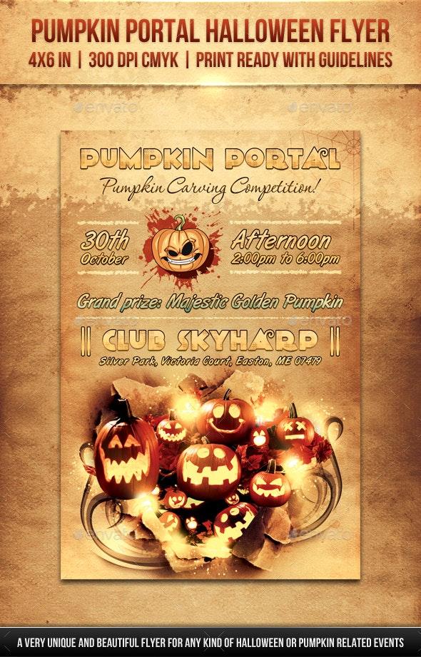 Pumpkin Portal Halloween Flyer - Holidays Events