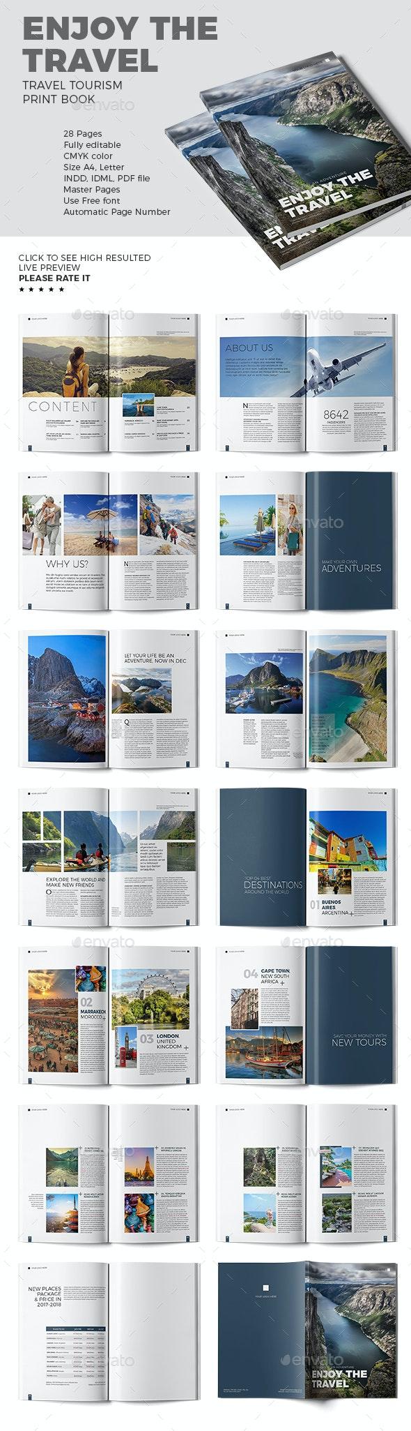 Enjoy The Travel - Travel Book Template - Print Templates