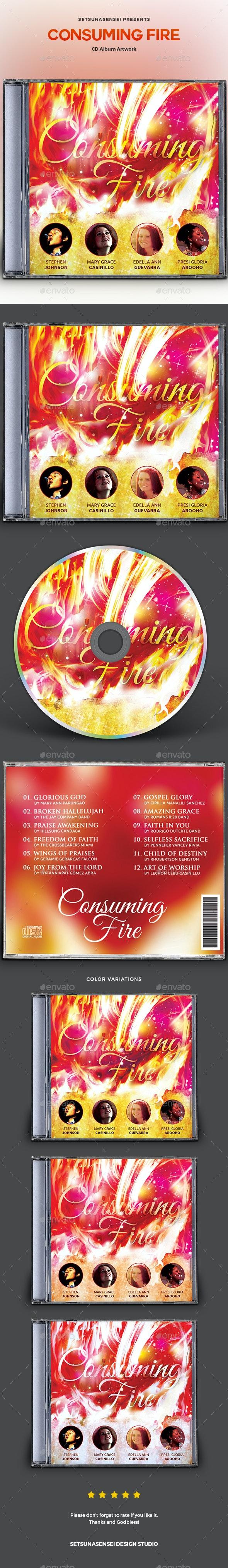 Consuming Fire CD Album Artwork - CD & DVD Artwork Print Templates