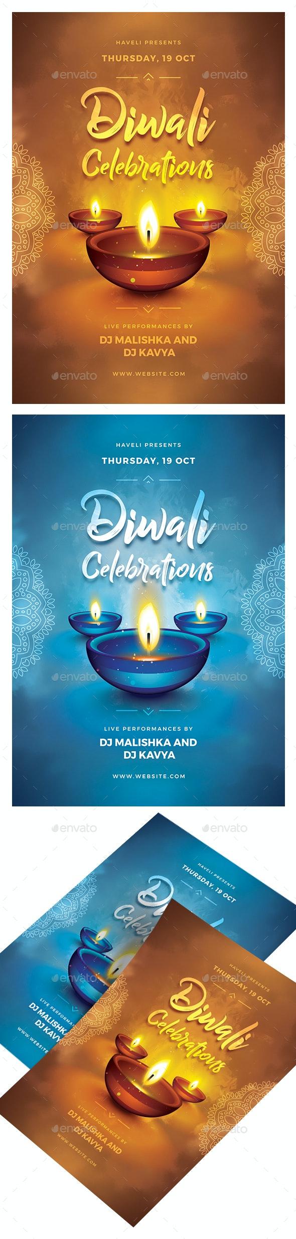 Diwali Celebrations Flyer - Events Flyers