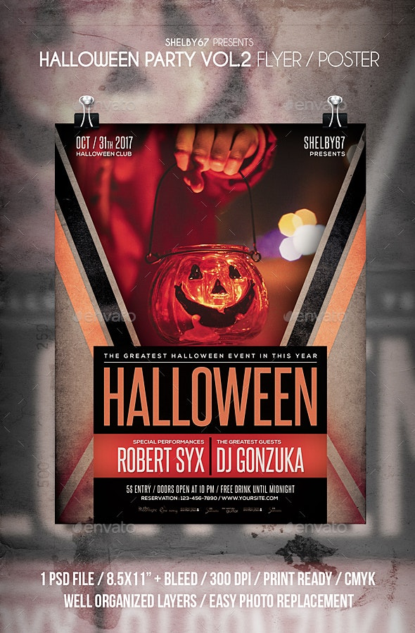 Halloween Party Flyer / Poster Vol 2 - Clubs & Parties Events