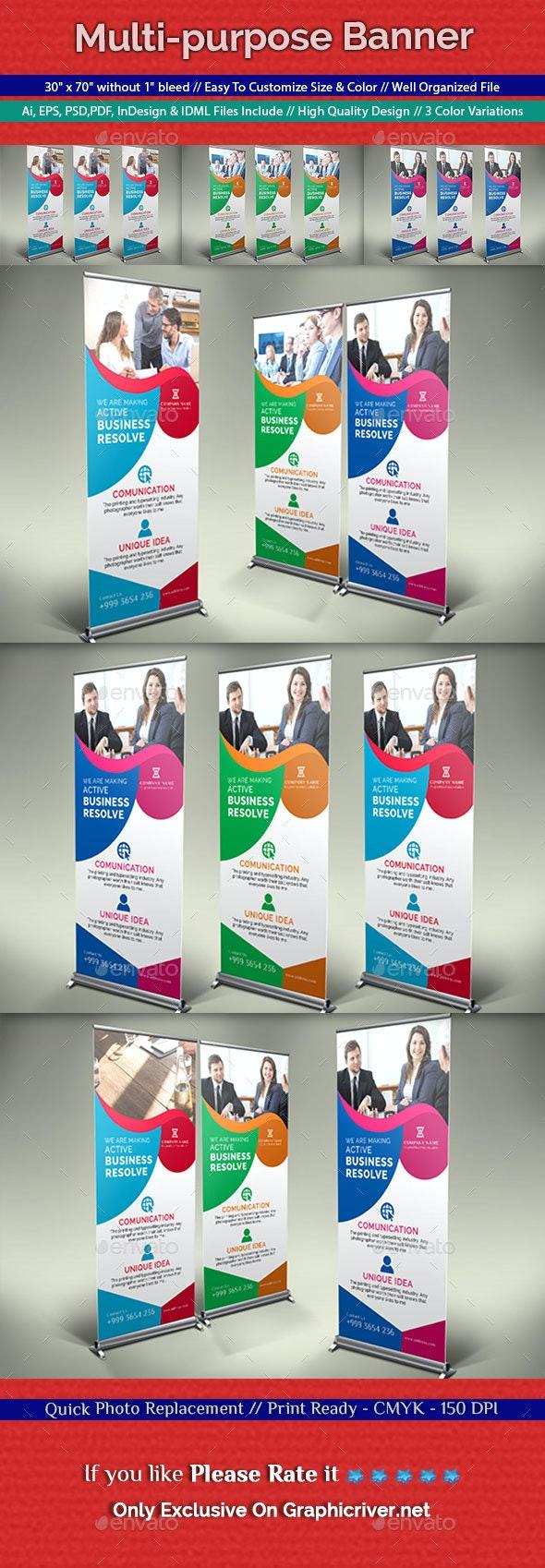 Multi-purpose Banner - Signage Print Templates
