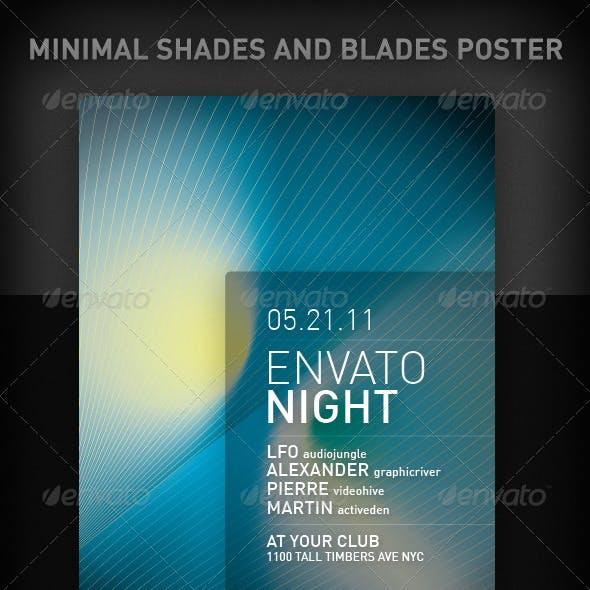 Minimal Shades And Blades Poster