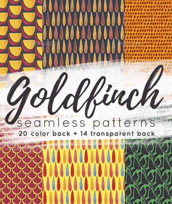 Seamless Abstract Patterns. Goldfinch Collection - Patterns Backgrounds