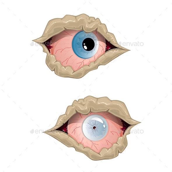 Eyes of Zombie - Halloween Seasons/Holidays