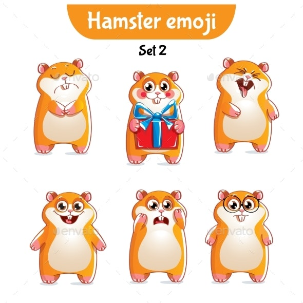 Hamster Characters Set 2 - Animals Characters