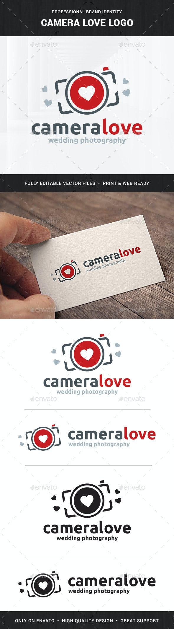 Camera Love - Photography Logo - Objects Logo Templates