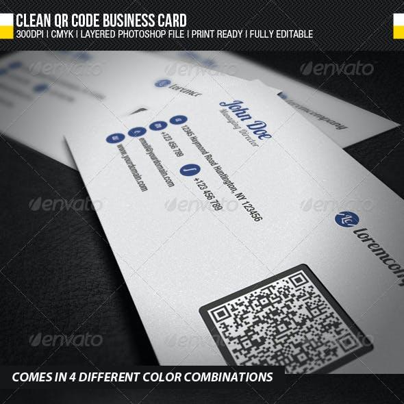 Clean QR Code Business Card